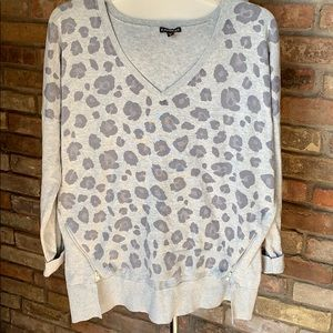 Express animal print over sized sweater